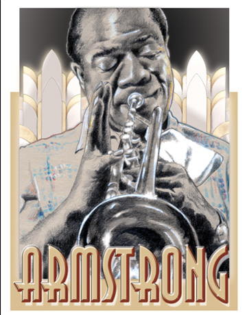 CARICATURAS: Louis Armstrong. Graphite on paper. Private collection ...