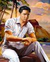 Elvis Art by Betty Harper titled Beach Boy Blues