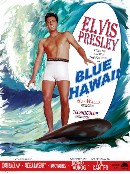 Movie Poster Art by Betty Harper for Blue Hawaii