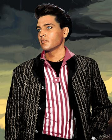 calm within the storm - Elvis Presley art by Betty Harper