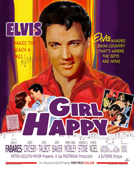 Movie Poster Art by Betty Harper for Girl Happy
