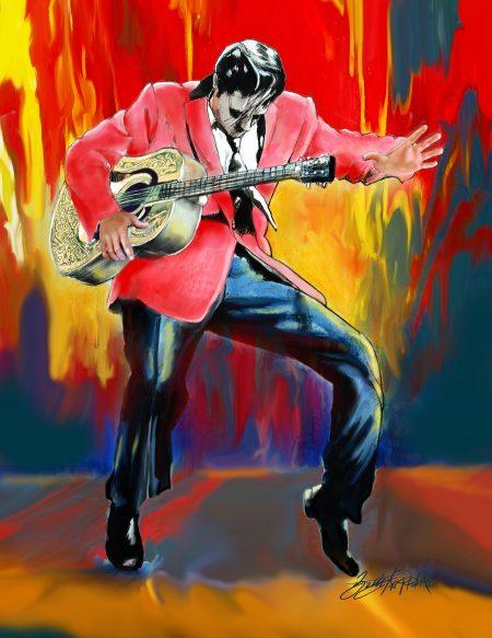 Original Elvis Art by Betty Harper titled Good Rockin Tonight