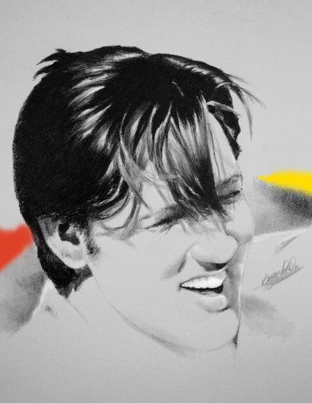 Happy Monday - Elvis Art by Betty Harper