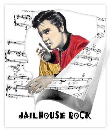 Jailhouse Rock Music Elvis Art by Betty Harper