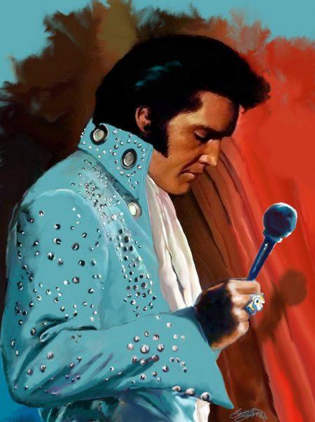 Elvis Art by Betty Harper titled Monday Morning Blues
