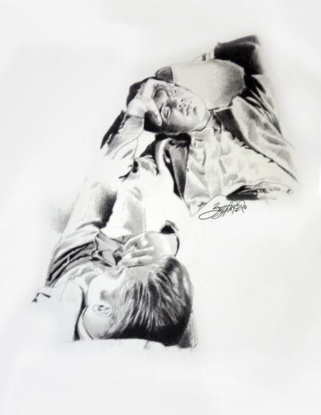 On the Road - Elvis Presley art by Betty Harper
