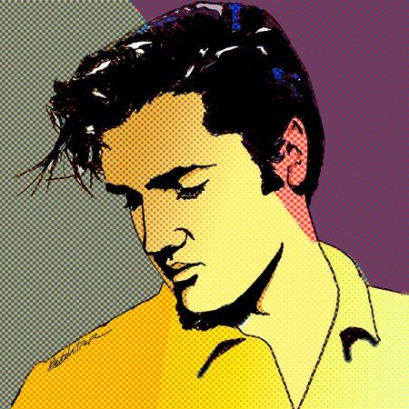 Elvis Art by Betty Harper POP goes E