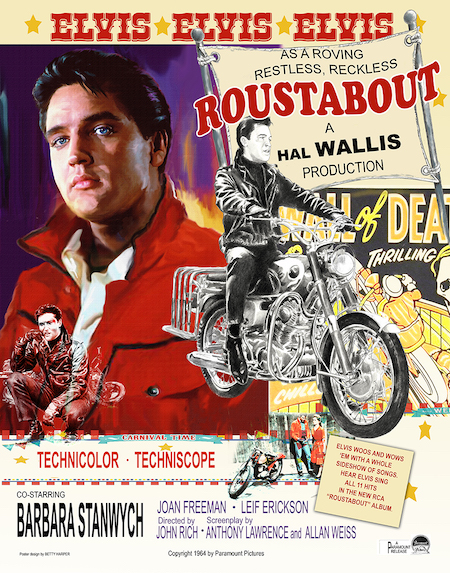 Movie Poster Roustabout by Betty Harper the Elvis Artist