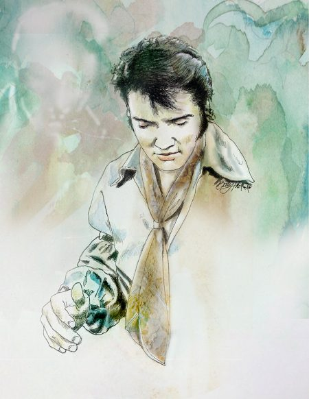 Betty Harper Art - Sincerely - Elvis Presley