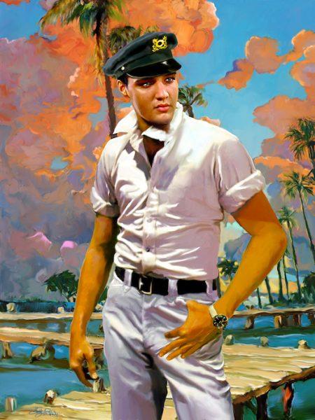 Elvis art by Betty Harper title The Captain